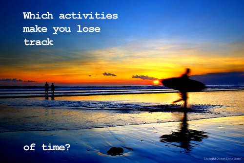 Which Activities Make you Lose Track on Random Thortz